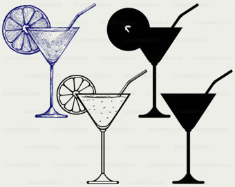 Alcohol clipart martini glass Svg alcohol cocktail glass Cocktail