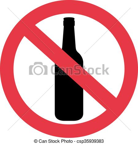 Alcohol clipart not Red with not no No