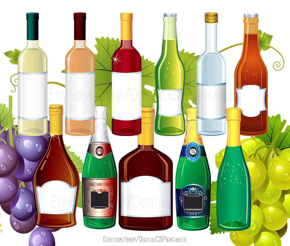 Alcohol clipart party drink Bottle file clipart drink Drink