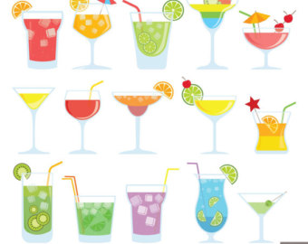 Alcohol clipart party drink Drinks clipart Digital Cocktail Clipart