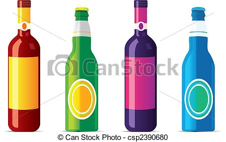 Alcohol clipart transparent Bottles isolated isolated and transparency