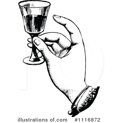 Retro clipart wine #1