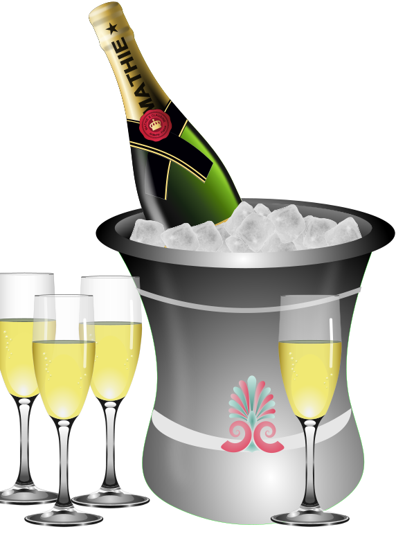Chilling clipart And Clipart Free Wedding Champagne