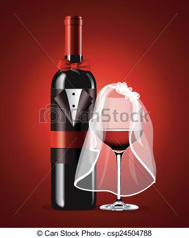 Alcohol clipart wedding wine glass Bottle Vector in Vector of