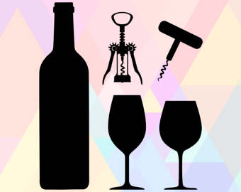 Alcohol clipart wedding wine glass File clipart Cut Clipart Wine