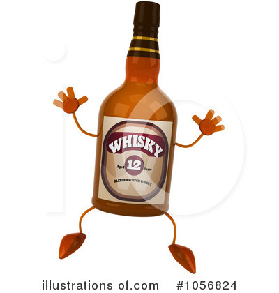 Alcohol clipart whisky bottle #13