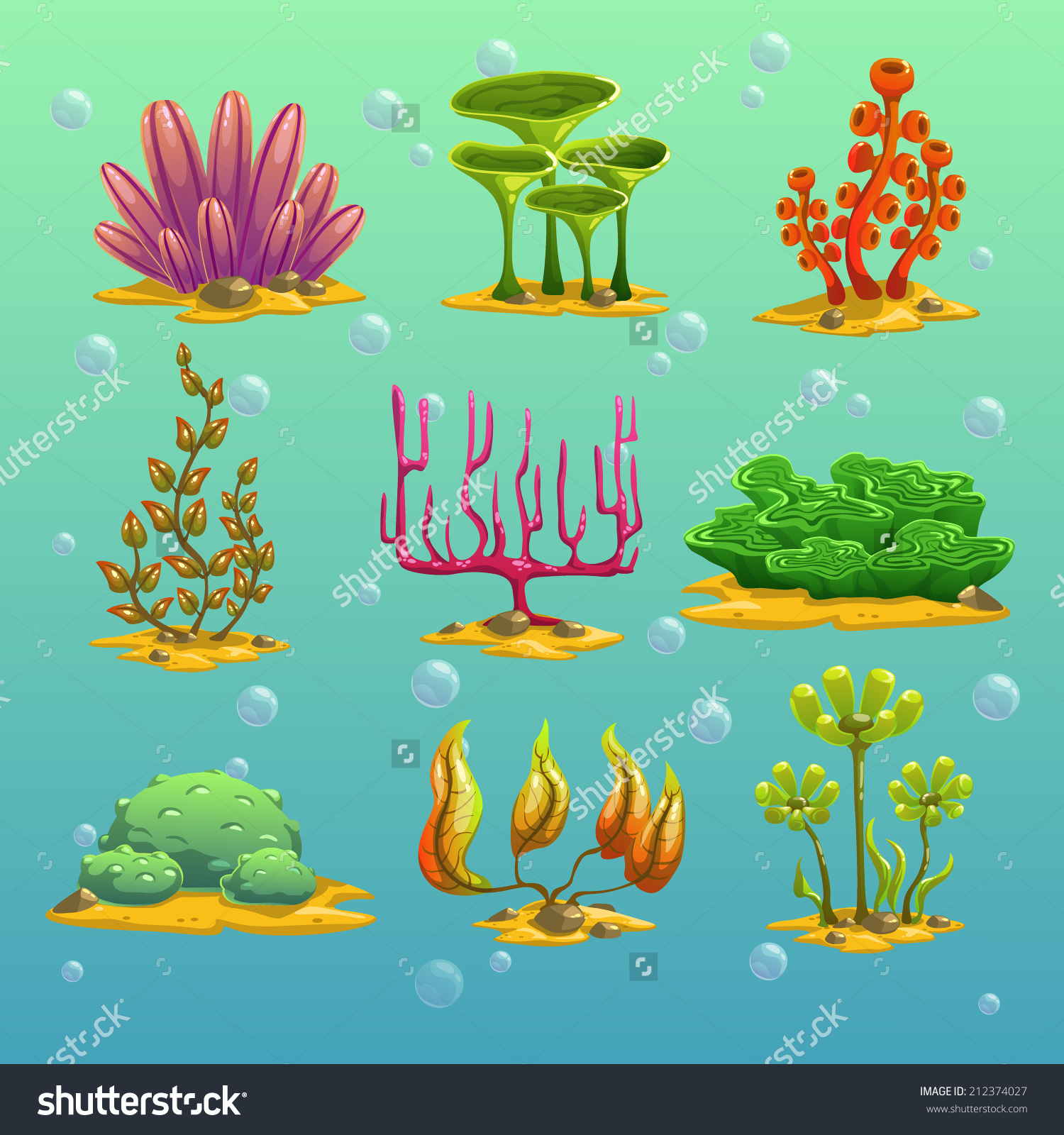 Algae clipart cute Set 2 Cartoon Shutterstock 2