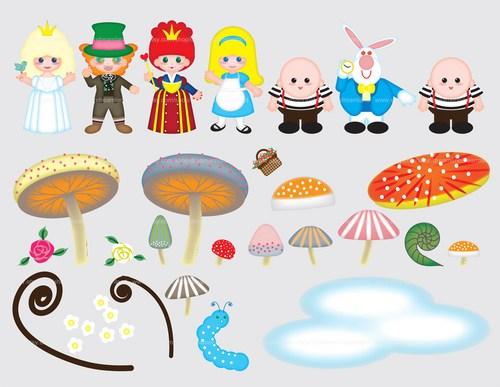 Mushroom clipart alice and wonderland Alice PDF File Art Clip