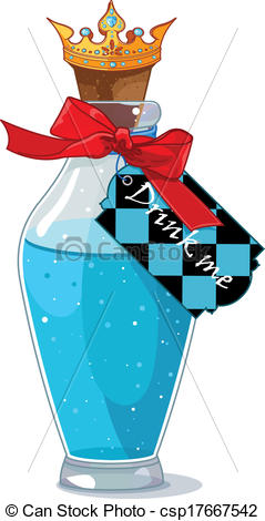 Bottle clipart alice in wonderland Bottle bottle Vector Alice Wonderland