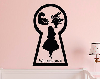 Alice In Wonderland clipart keyhole Carroll Wall Wonderland Alice Decals