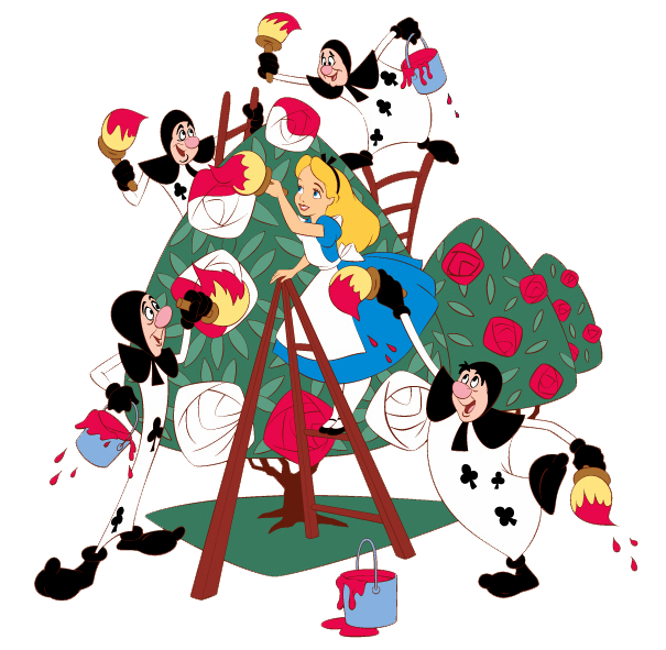Alice In Wonderland clipart rose Cliparts clipart in tree wonderland