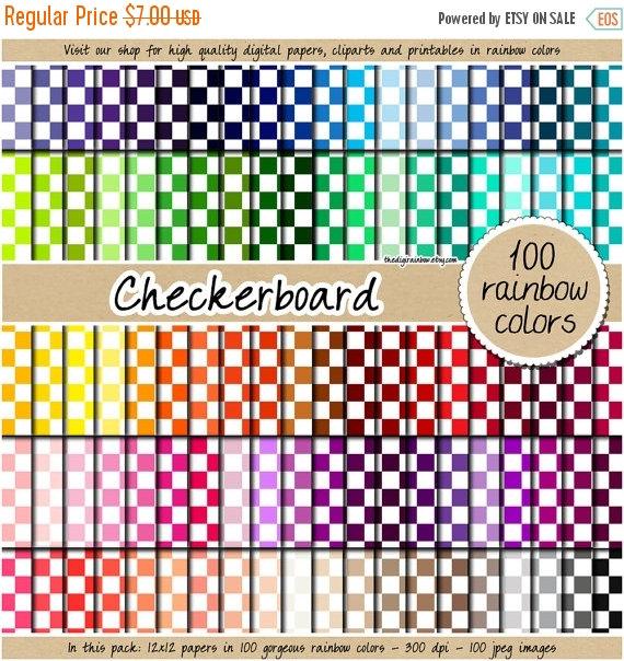 Alice In Wonderland clipart top hat Digital Checkerboard paper SALE pack