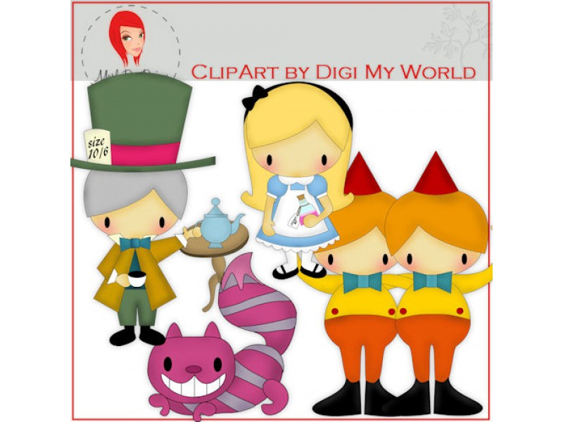 Alice In Wonderland clipart storybook character #4