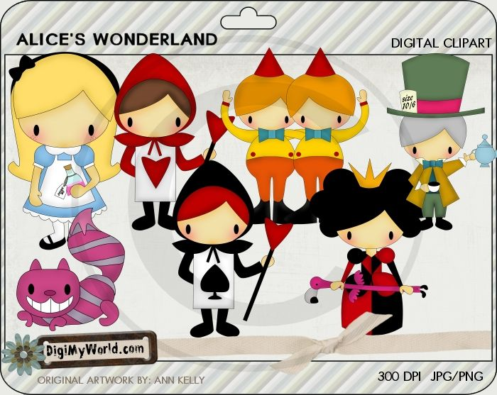 Alice In Wonderland clipart storybook character #6
