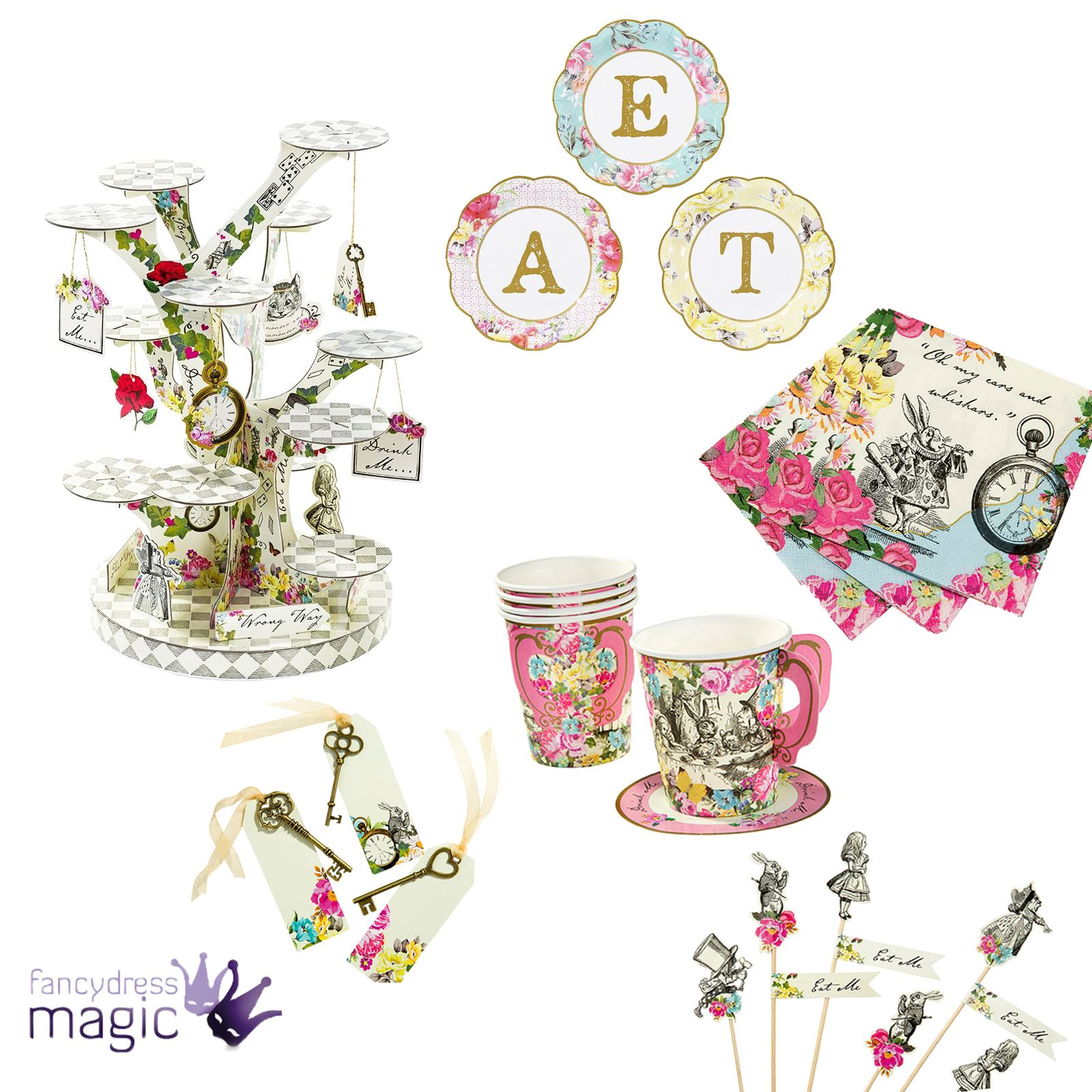 Alice In Wonderland clipart table Hatters  Mad Wonderland Partyware
