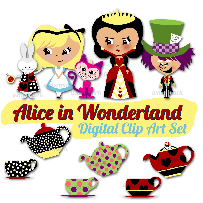 White Alice Clipart In craft