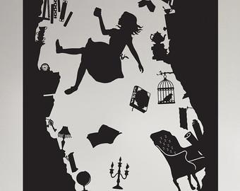 Drawn alice in wonderland the rabbit hole drawing The Vinyl rabbit Down Rabbit
