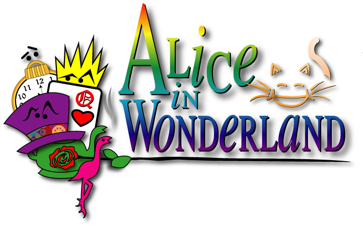 Alice In Wonderland clipart title The June Is  Announces