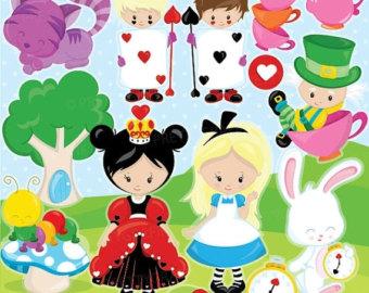 Alice In Wonderland clipart vector Alice clipart commercial Alice vector