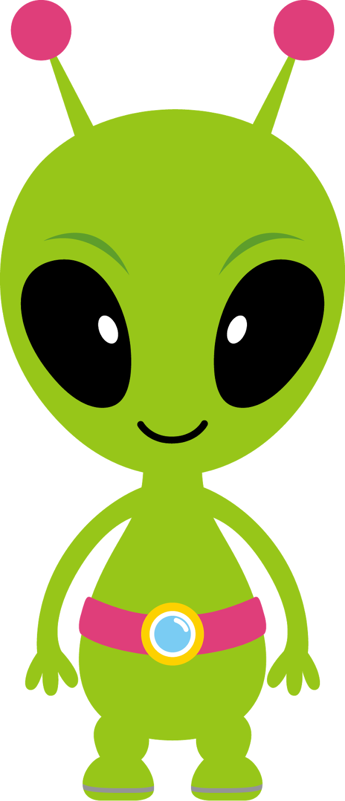 Sci Fi clipart cute alien spaceship #12