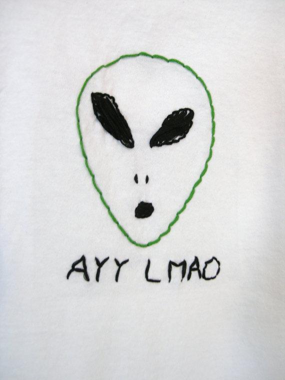 Alien clipart ayy lmao Alien Ayy Tee shirt Tee