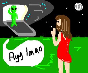 Alien clipart ayy lmao Chatting bearded lmao) an lmao)