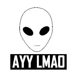 Alien clipart ayy lmao LMAO Alien T Shirt Ayy
