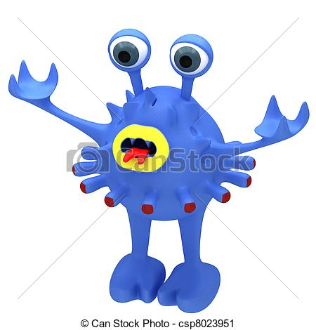 Alien clipart blue alien Csp8023951 the space on alien