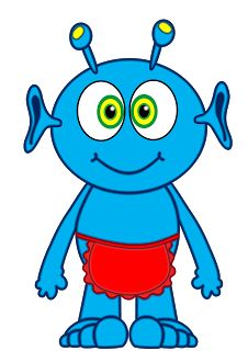 Alien clipart blue alien Cliparts Alien SPACE*?** Art Library