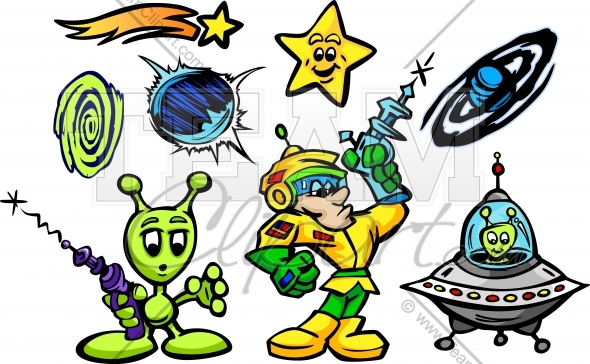 Alien clipart space man Vector and Clipart collection Cartoon