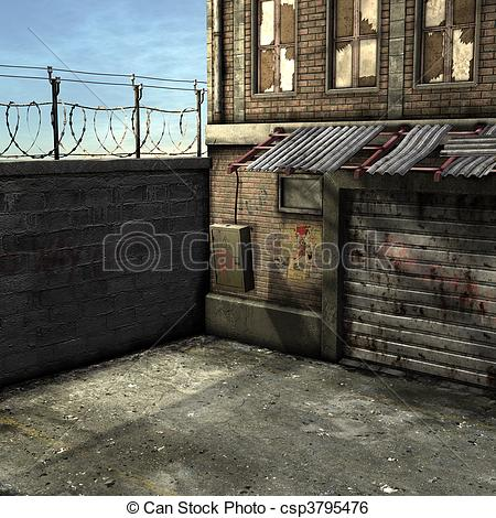 Alley clipart building #4