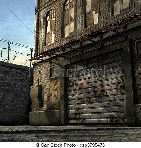 Alley clipart building #2
