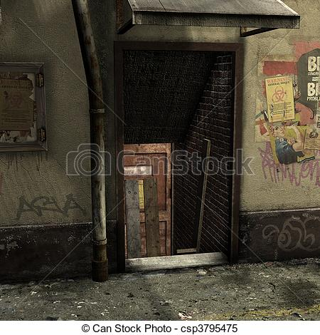 Of an Illustrations Scene Alley