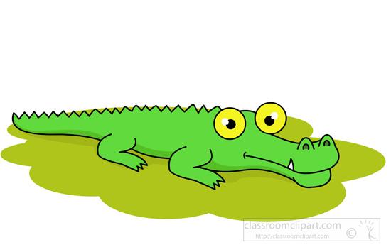 Alligator clipart muscular Style clipart alligator Art green