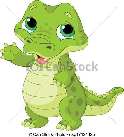 Alligator clipart sad 446 very clipart alligator Illustration