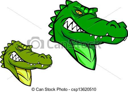 Alligator clipart caiman Green wild Art cartoon of