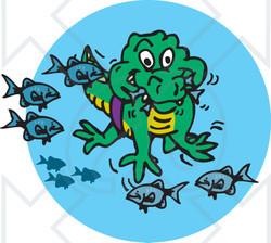 Alligator clipart fish Eating Alligator  Cartoon Fish