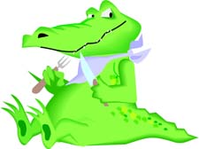 Alligator clipart hungry Reptiles eating knife Free crocodile
