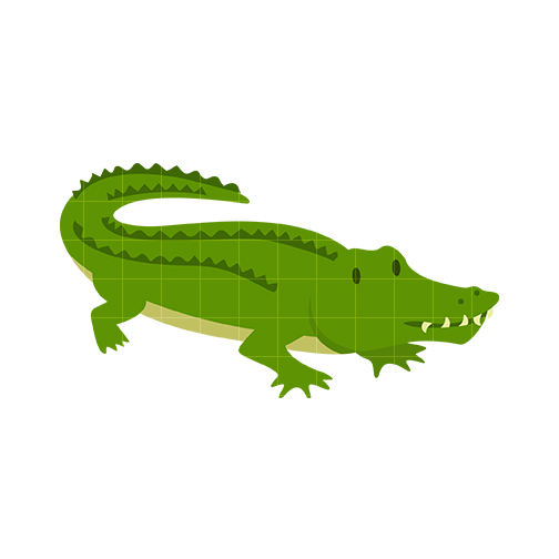 Alligator clipart letter a Free  animated clipart alligator