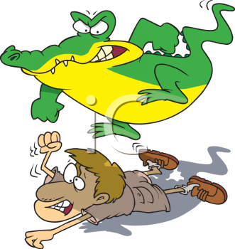 Alligator clipart m an Alligator On Picture Zookeeper