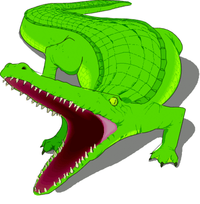 Alligator clipart mouth open 1 Free Clipart page Art
