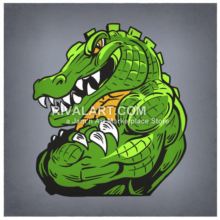 Alligator clipart muscular Muscle Gator Alligator An Clipart