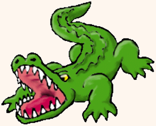 Alligator clipart scared A is Library for Alligator