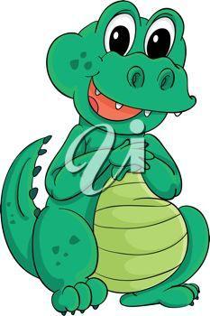 Alligator clipart valentine 1210 Cute & Bird down