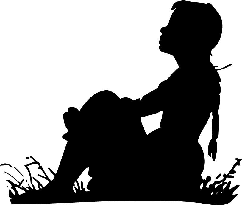 Alone clipart black and white Of collection Clip clipart Silhouette