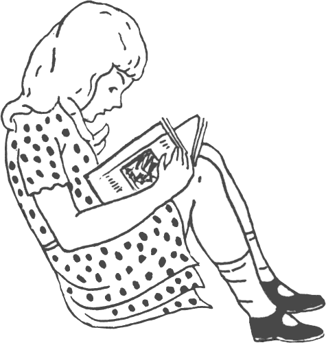 Alone clipart black and white Download Reading Free clip White