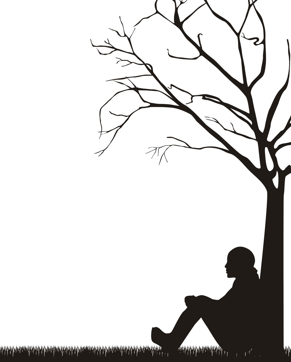Alone clipart black and white Meditation just Easy Made meditation