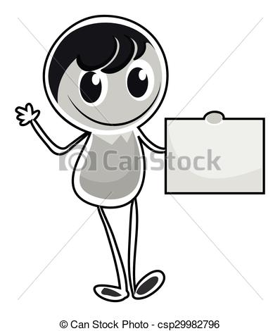 Alone clipart boy all Illustration csp29982796 character alone alone