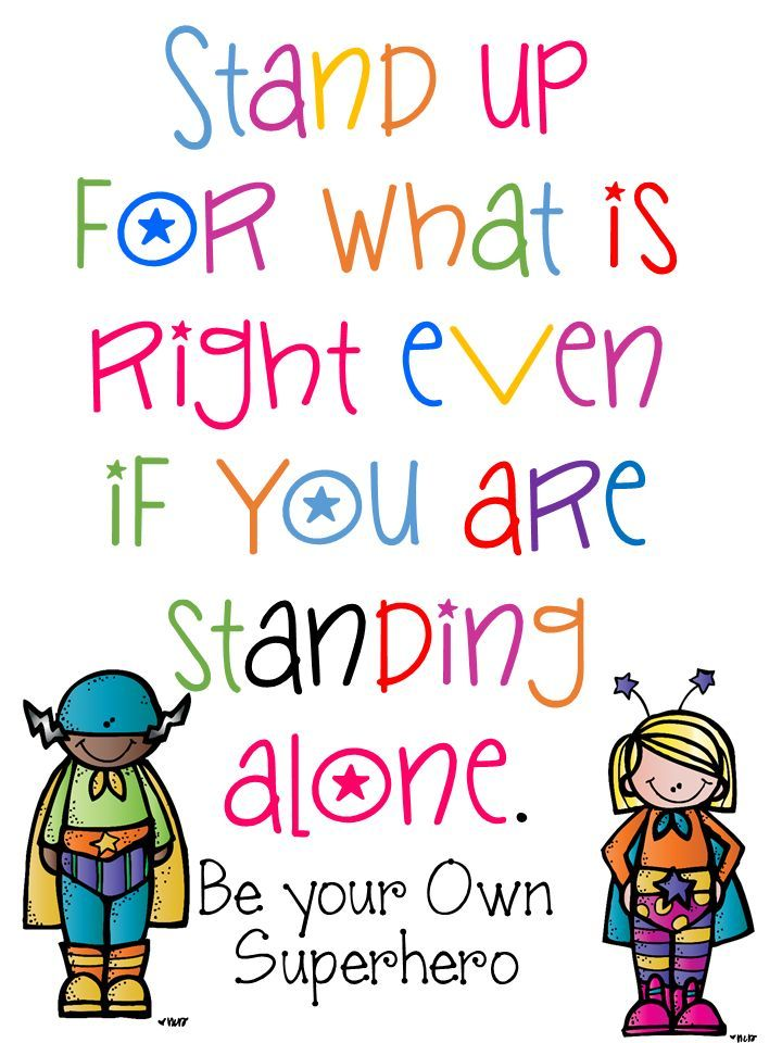 Alone clipart bullied Right alone  are is