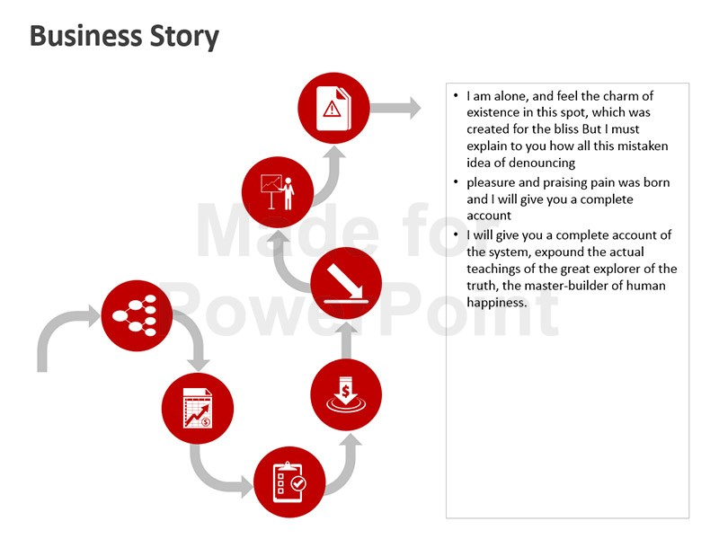 Alone clipart business process Business Story Business PowerPoint Editable
